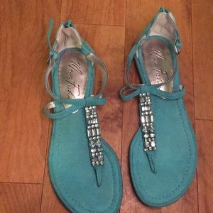 Turquoise sandals Marc Fisher